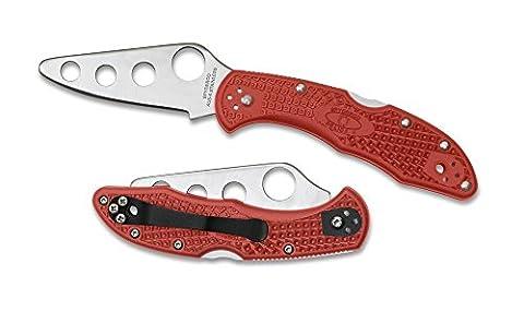 Spyderco Delica 4 Lightweight Trainer Folding Knife - Red