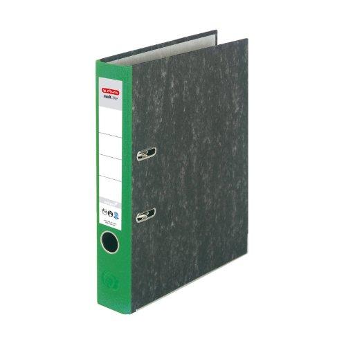 herlitz-11012390-ordner-maxfile-nature-a4-5cm-grun-wolkenmarmorbezug-papier-grau-5er-packung