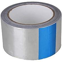 BQLZR plata único rollo 20m x 60mm conducto de resistencia al calor adhesivo de papel de aluminio brillante Flash reflectante cinta