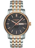 Roamer Mercury II Men's Automatic Watch with Brown Dial Analogue Display and Two Tone Stainless Steel Bracelet