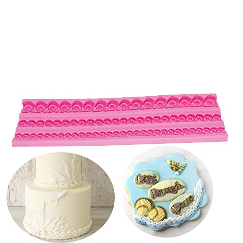 HBBQRS Sugarcraft Newest Wave Pattern Wavy Texture Silicone Mold Fondant Mould Cake Decorating Tools Chocolate Mold D1301 66 Chocolate Mold