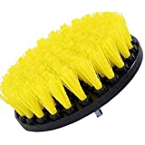 Drill Brush Power Scrubber Giallo 13 centimetri di connessione per Cordless Drill Potenza Scrubber per rivestimento in fibra