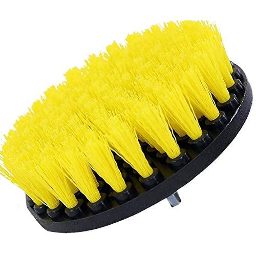 Drill Brush Power Scrubber Gelb 13cm Befestigung für Akku-Bohrschrauber Strom Scrubber für Fliesen Fiberglas Fußboden Teppich Mat Polster Punktreinigung Hauptreinigung - Fokus Weichen Bürste