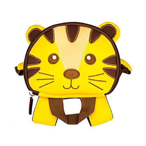 Kinder Cartoon Rucksack, Tier 3D Cartoon Sicherheit Anti-verlorene Gurt Rucksack mit Zügel Kindergarten Toddle Kinder Schultasche Zoo Lunch Bag (Tiger)
