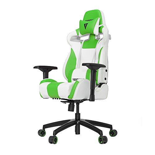Vertagear S-Line 4000Gaming Chair, Blanc/Vert, Taille M