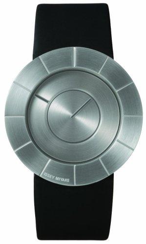 Issey Miyake To Silan 371LAN003 - Reloj unisex de cuarzo, correa de piel color plata