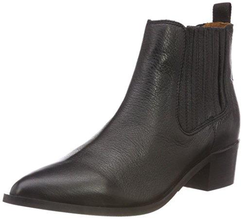 SELECTED FEMME Damen SLFELENA New Leather NOOS B Chelsea Boots, Schwarz Black, 40 EU
