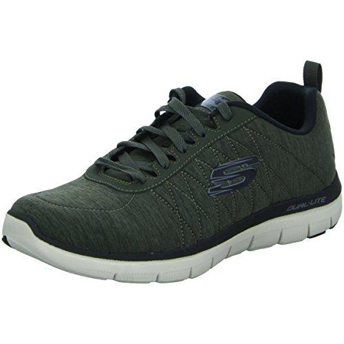 Skechers Flex Advantage 2.0-Chillston Herren Sneaker Oliv, Größe:42, Farbe:Oliv