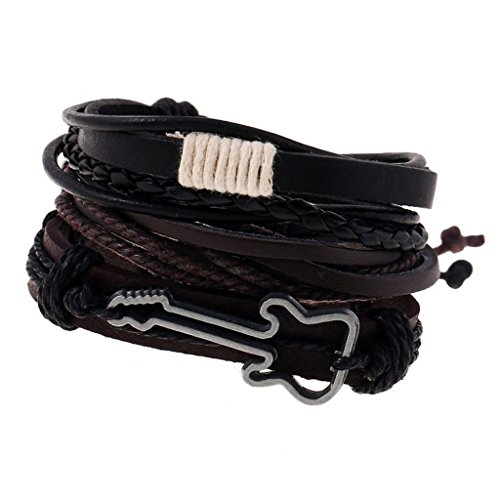 Uhren & Schmuck Armband Leder Gitarre Verstellbar Damen Und Herren Mode Schmuck Unisex Top Verbraucher Zuerst Modeschmuck