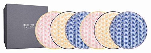 TOKYO design studio, Star Wave, 6 Teller Set , 6-tlg., Ø 16 cm, Porzellan aus Japan Design Teller