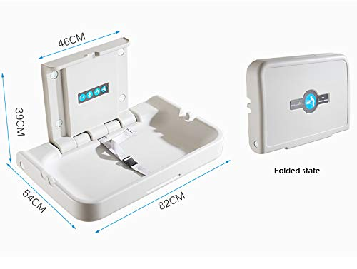 QZ® Baby Changing Station Wall Mount for Nursery Restroom, Folding Infant Dresser, White Granite (Size : B)  qiangzi