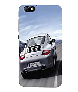 Fuson 3D Printed Car Designer Back Case Cover for Huawei Honor 4X - D579