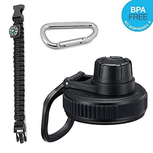 für Hydro Flask Wide Mouth Water Bottle, Ersatzdeckel für 5,1 cm breite Öffnung Edelstahl Vakuum-isolierte Flasche, BPA-frei auslaufsicher. ()