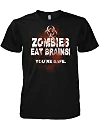 Geek Zombies Eat Brain 701722 T-Shirt