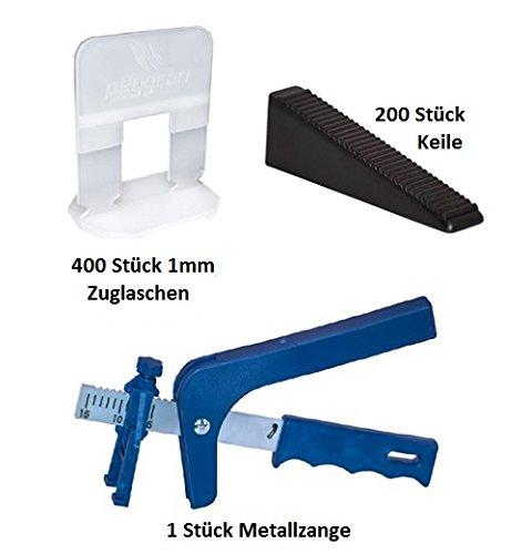 Sistema de nivelación peygran 1mm 400laschen 200cuñas + Metal Alicate