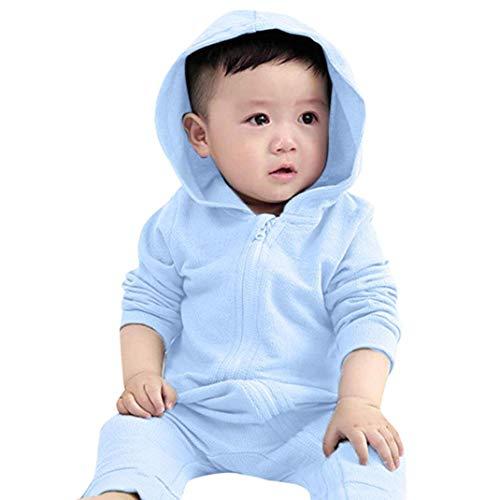 nen Kleidung, Infant Kleinkind Baby Mädchen Jungen Dinosaurier Hoodie Strampler Zip Kleidung Overall Halloween Langarm Strampler (3M, Blau) ()