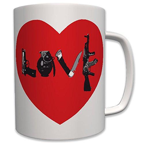 Militär Des Herzens (Army LOVE Liebe Herz Heart Waffen Militär - Tasse Becher Kaffee #6270)