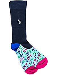 cb9c0f345d6 Quiet Rebellion Men s Socks, Luxury Combed Cotton Embroidered Logo Office  Socks