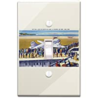 New York City, New York - United Airlines Plane Departing La Guardia (Light Switchplate Cover)