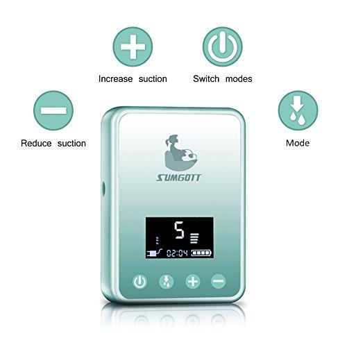 Elektrische Milchpumpe - SUMGOTT Wiederaufladbar Digitale LCD-Anzeige Dual Brustpumpe Stillen Automatische Massage - 3