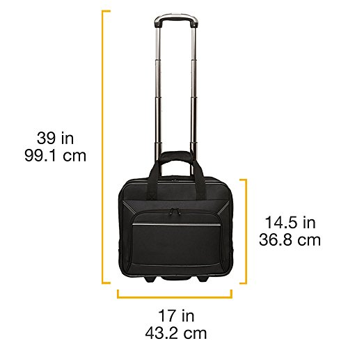 AmazonBasics Laptop-Rollkoffer / Trolley für Notebooks bis 16