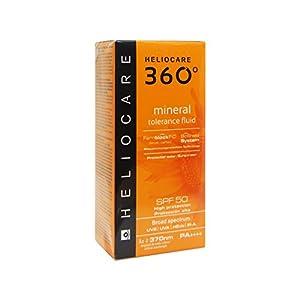 Heliocare 360º Mineral Tolerance Fluid SPF 50 – Crema Solar Facial, Fotoprotector Avanzado, Textura Ligera, Sin Efecto Blanqueante, Filtros 100% Minerales, 50ml