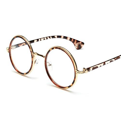 XXFFH Sonnenbrille Runden Rahmen Brille Frame Brille Männer Und Frauen Flach-Spiegel , 3 Männer Versace Brillen Frames