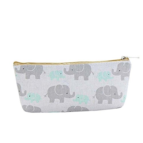 Buyanputra Cartoon Animal Print Bleistift Fall Box srudent Stationery Tasche Tasche für Schule Elephant# - Animal-print Fall