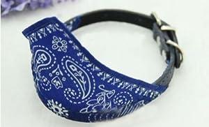 Huayang Petit chien chat réglable. bandana. col écharpe foulard marque(Blue)