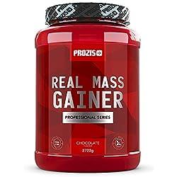 Prozis Real Mass Gainer Professional Pulver 2722g - Leckerste Vanille-Ergänzung - Weight Gainer Protein für den Muskelaufbau und Instandhaltung - Mehr als 400 kcal pro Portion - 24 Portionen