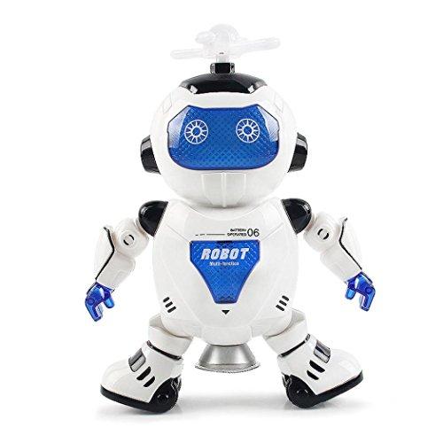 Xshuai 30 CM Höhe Elektronische Walking Tanzen Smart Space Roboter Astronaut Kinder Musik Licht Spielzeug Für Weihnachtsgeschenk (Musik Roboter Kostüm)