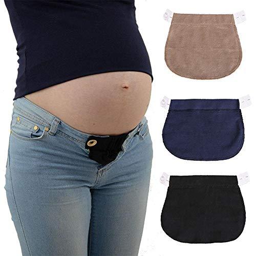 KOBWA Damen Hosenerweiterung,Bequeme Hosenerweiterung für Schwangere Bauchband Hoseneinsatz die Mutterschaft Lösung Verstellbare Elastische Mütter Schwangere Frauen