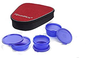 Signoraware Plastic Sleek Lunch with Bag, Violet