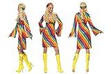 Fancy Dress World - Disfraz de Hippy de los años 70 para Mujer con Arco Iris y Diadema, diseño de Fiebre de Discoteca