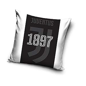 Juventus F.C., federa per cuscino con stampa colori e logo della Juventus, 40 x 40 cm, colore bianco, Jt173009, 40 x 40 cm
