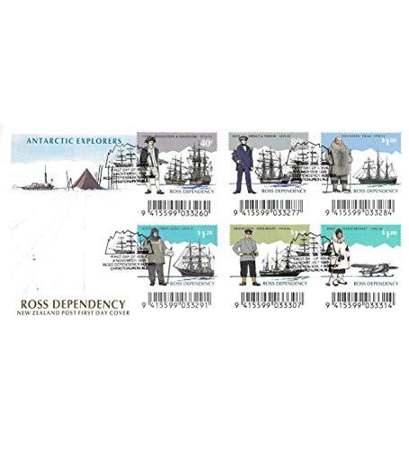 Goldhahn Ross-Gebiet Nr. 32-37 FDC Ersttagsbrief Antarktis Schiffe Flugzeug Briefmarken für Sammler -