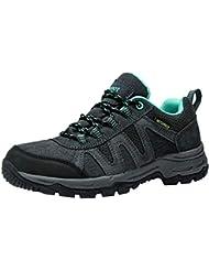 Zapatillas Trekking para Mujer Zapatos de Senderismo Calzado de Montaña Escalada Aire Libre Impermeable Ligero Antideslizantes