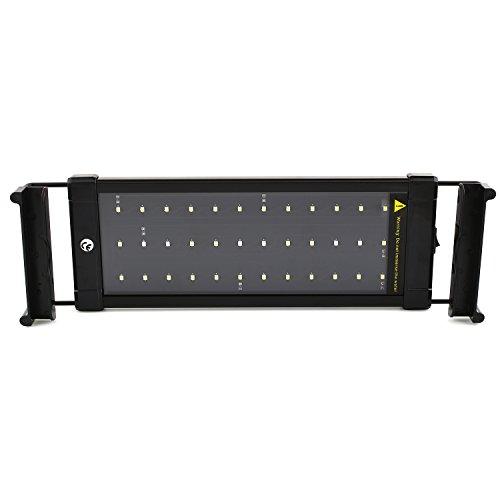 SIMBR Aquarium led beleuchtung Lampe Aufsetzleuchte Schwarz 30-50cm