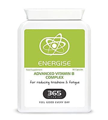 Vitamin B Complex Nutritional Supplement | Complete, Fast Acting Formula | Fight Tiredness and Fatigue | Boost Energy, Nervous and Immune System (90 Capsules) from 365 Vitamins Limited