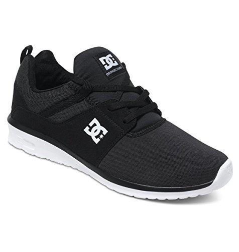 DC Shoes Herren Heathrow-Low-Top Shoes for Men Skateboardschuhe, Schwarz (Black/White-BKW), 36.5 EU (Dc Mens Fashion Sneaker)