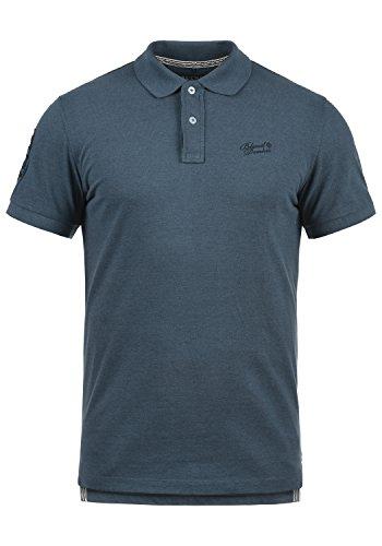 Blend Ludger Herren Poloshirt Polohemd T-Shirt Shirt Mit Polokragen, Größe:L, Farbe:Denim Blue (74646) -