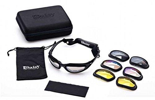 Neue Daisy C5 Polarisierte Militär Taktische Sport Eyewear Outdoor Goggles 4 Linsen Gläser Sonnenbrillen Angeln Klettern Schießen Walking