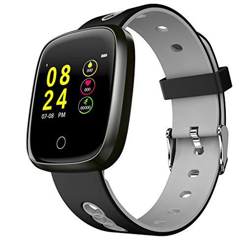 VRTUR Smartwatch Herren 4.0BLE Bluetooth Uhr Gesundheits Tracker, Schlafmonitor, Pulsuhr, Stoppuhr Android 4.4 / iOS 8.0 und höher Grau