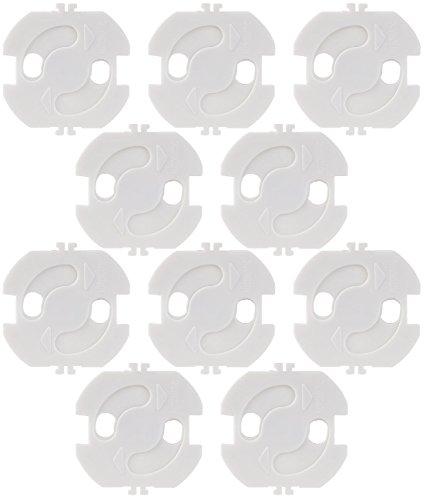 infactory Steckdosensicherung: Steckdosenschutz, weiß, zum einkleben, 10er-Set (Steckdosenkindersicherung)