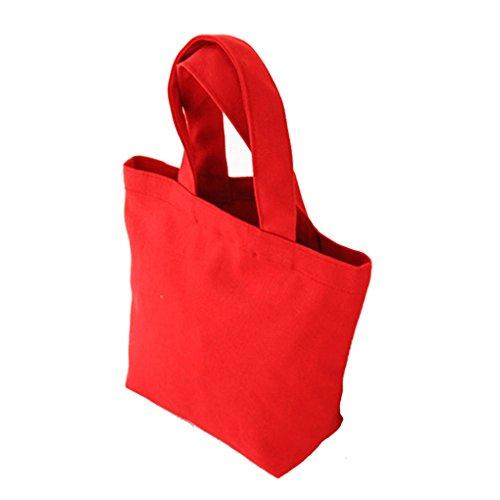 LUFA Segeltuch Mittagessen Beutel thermische Beutel Mittagessen Kasten Verpackung Kosmetische große Kapazitäts Beutel Rot