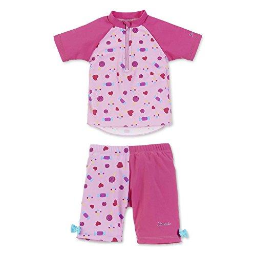 Sterntaler Baby-Mädchen Badebekleidungsset 2-TLG. Schwimmanzug, Rosa (Mandelblüte 715), 92