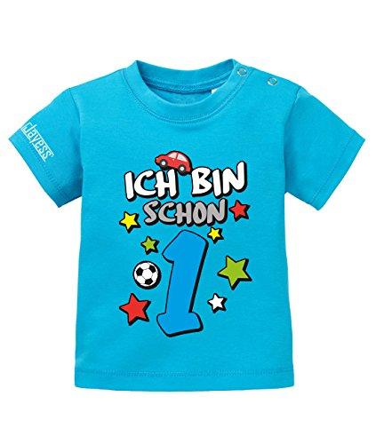 Ich Bin Schon 1 - Digital - Jungen - Baby T-Shirt in Blau by Jayess Gr. 80/86 (1. Jungen-geburtstag Shirt)