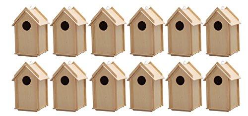 Avantgarde - Vogelhaus Bausatz Stecksystem (12 Vogelhäuser)