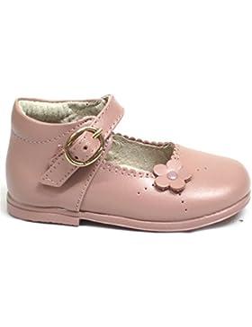 Mercedita para niña fabricada en piel Bubble Bobble A1640 color rosa, cierre con hebilla