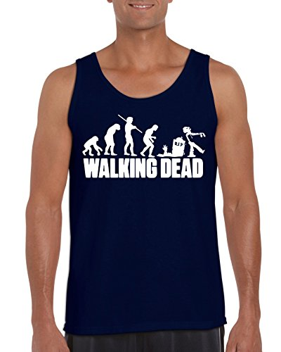 TRVPPY Herren Tank-Top Modell The Walking Dead, Navyblau, XXL